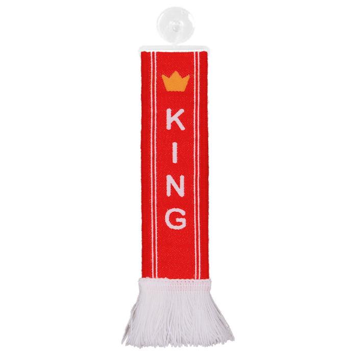 TRUCK DUCK/® LKW Auto Minischal Norwegen Norway Mini Schal Wimpel Flagge Fahne Saugnapf Spiegel Deko