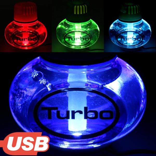 Turbo Lufterfrischer Tropical mit USB 5V 7 LED Beleuchtung für LKW Auto KFZ Bus Wohnwagen