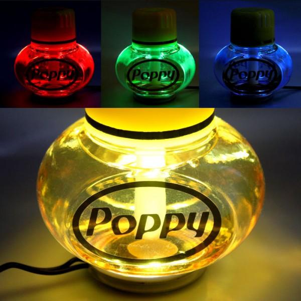 Poppy Lufterfrischer Vanille mit 7 LED Beleuchtung 12V 24V LKW Auto KFZ Wohnwagen