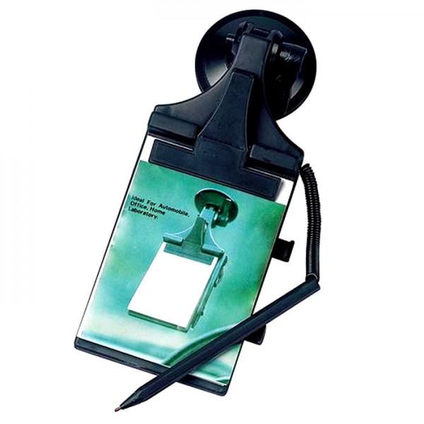 KFZ LKW Notiz-Klemmbrett mit Saugnapf Notizblock Kugelschreiber Halter Adapter