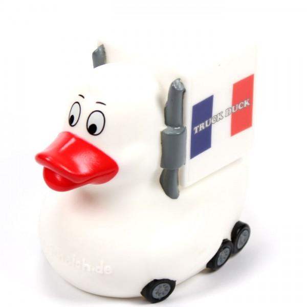 Original Truck Duck Frankreich France Figur Trucker LKW Auto Ente Länder Flagge Fahne
