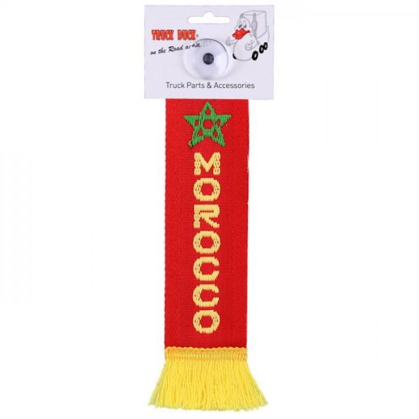 LKW Auto Minischal Marokko Morocco Mini Schal Wimpel Saugnapf Anhänger Spiegel Deko Flagge
