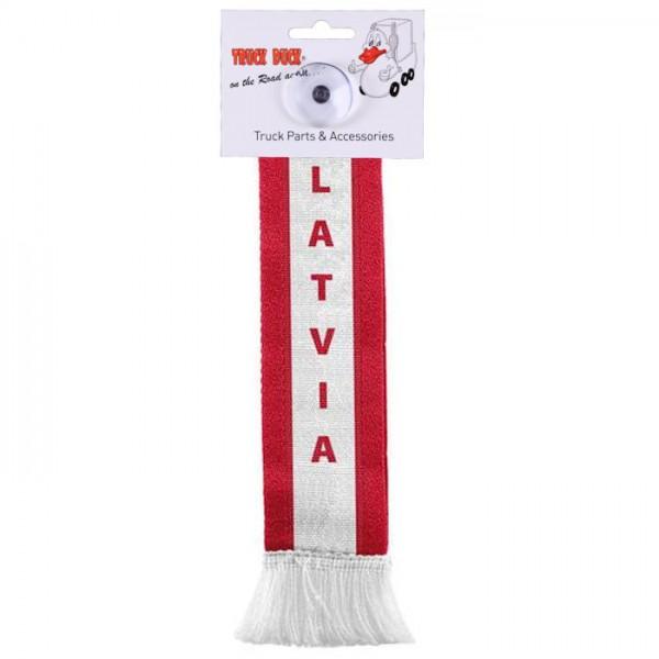 LKW Auto Minischal Latvia Lettland Mini Schal Wimpel Saugnapf Anhänger Spiegel Deko Flagge