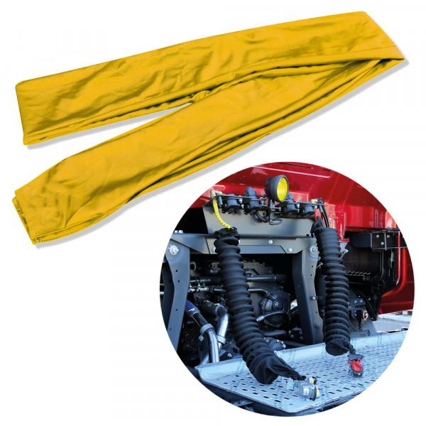 Überzug Luftschlauch Schutz Luftwendel Druckluft Schlauch Spiralschlauch Hülle Kupplung Gelb für LKW