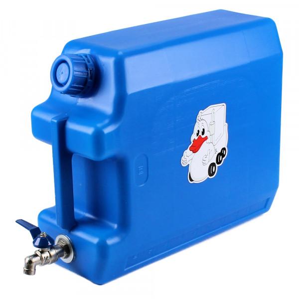 Wasserkanister mit Metallhahn 10 Liter Tank Wassertank Jerrycan Kanister LKW Auto Bus Camping Blau