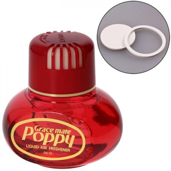 Poppy Grace mate Flasche Lufterfrischer Cherry mit Klebepad für LED Beleuchtung LKW KFZ Auto Bus