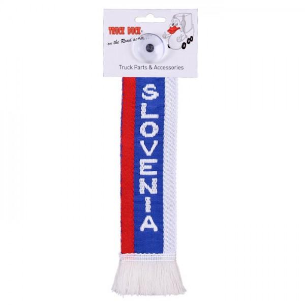 LKW Auto Minischal Slowenien Slovenia Mini Schal Wimpel Saugnapf Anhänger Spiegel Deko Flagge