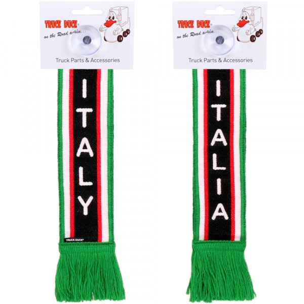 LKW Auto Minischal Italien Italy Mini Schal Wimpel Saugnapf Anhänger Spiegel Deko Flagge Fahne