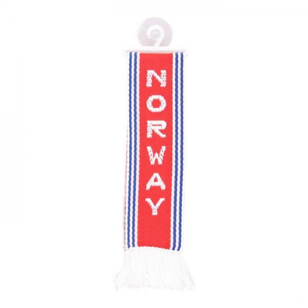LKW Auto Minischal Norwegen Norway Mini Schal Wimpel Saugnapf Anhänger Spiegel Deko Flagge