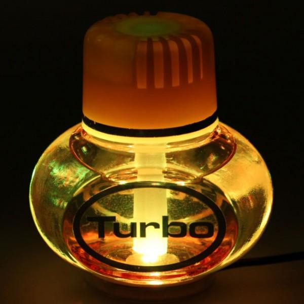 Turbo Lufterfrischer Vanille mit Poppy LED Beleuchtung 12V 24V LKW KFZ Auto Wohnwagen