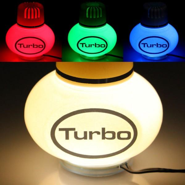 Turbo Lufterfrischer Jasmin mit Poppy 7 LED Beleuchtung 12V 24V LKW Auto KFZ Wohnwagen