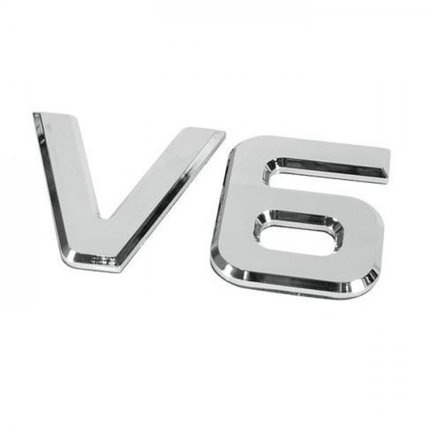 3D XXL V6 Emblem Zeichen Chrom Schriftzug LKW SUV NFZ Pick Up Auto Aufkleber Sticker Logo