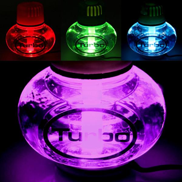 Poppy Lufterfrischer Lavendel mit 7 LED Beleuchtung 12V 24V LKW Auto KFZ Wohnwagen