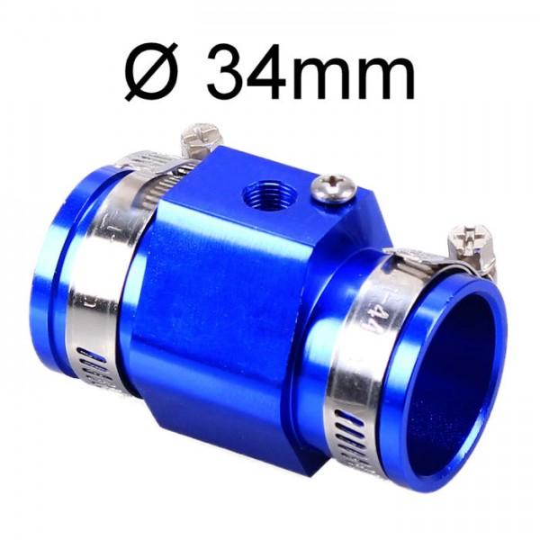 Adapter Kühlerschlauch 34mm für Kühlmittel Wasser Temperatur-Geber Sensor Instrument Anzeige KFZ