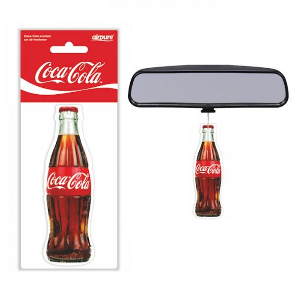 Original Coca Cola Lufterfrischer Flasche Cola Duft Air Freshener Duftbaum LKW KFZ Auto Bus