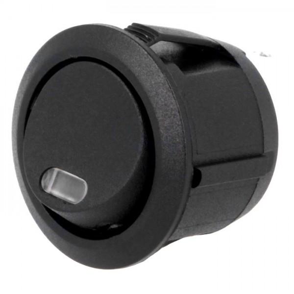 Wippentaster Wipp-Taster Schalter rund Aus Ein mit Kontrolleuchte rot für 12V DC