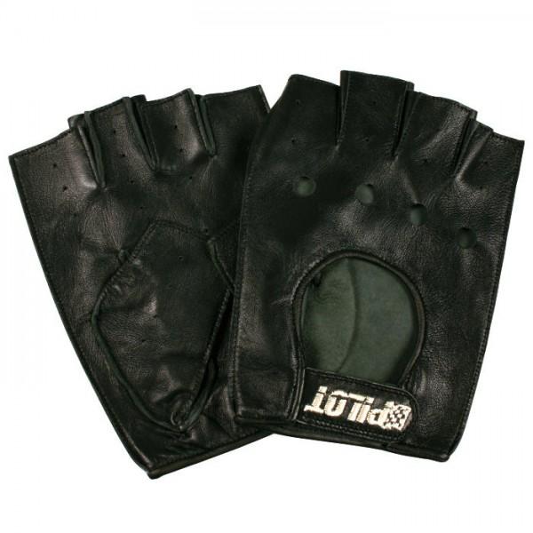 Autofahrer Handschuhe Auto Fahrerhandschuhe Retro Vintage Lammleder Leder Schwarz Gr. L