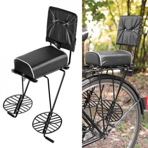 Vintage Retro Fahrrad Gepäckträger Rücksitz Sitz Sattel mit Halterung Klassik Bike MTB