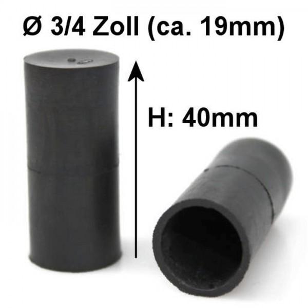 3/4 Zoll 19mm Kappe Gummikappe Schutzkappe Blindstopfen Endstück Stopfen Gewinde