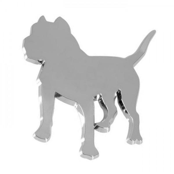 3D Hund Pitbull Dogge Bulldog Emblem Chrom Schriftzug Auto LKW KFZ Aufkleber Motorhaube Kotflügel