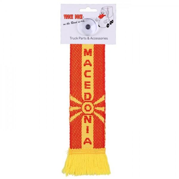 LKW Auto Minischal Mazedonien Macedonia Mini Schal Wimpel Saugnapf Anhänger Spiegel Deko Flagge
