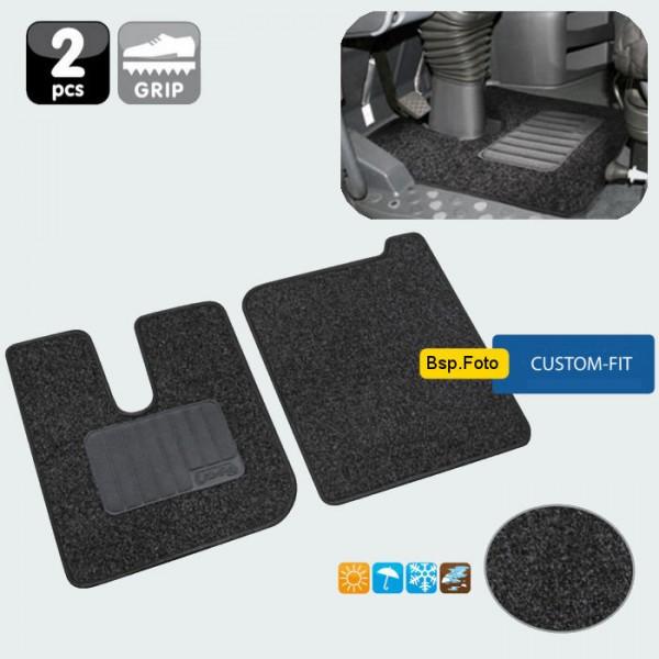 LKW Fussmatte Fussmatten Satz Innenraum Teppich 2er-Set für Mercedes Actros MP4