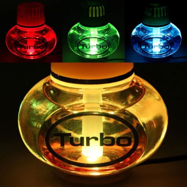 Turbo Lufterfrischer Vanille mit 7 LED Poppy Beleuchtung 12V 24V LKW Auto KFZ Wohnwagen