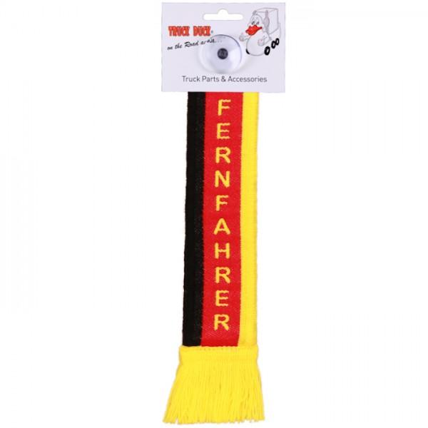 LKW Auto Minischal Fernfahrer Trucker Mini Schal Wimpel Saugnapf Spiegel Deko Flagge Fahne