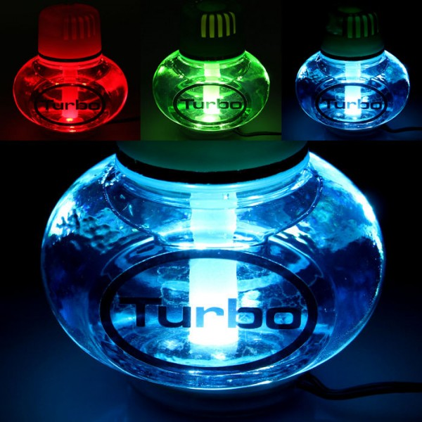 Turbo Lufterfrischer Ocean mit 7 LED Poppy Beleuchtung 12V 24V LKW Auto KFZ Wohnwagen Bus