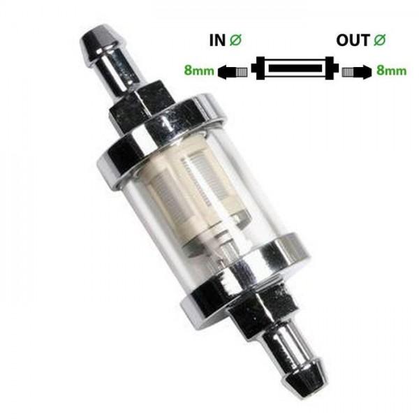 Universal Kraftstofffilter 8mm Benzinfilter Universalfilter Motorrad KFZ Auto