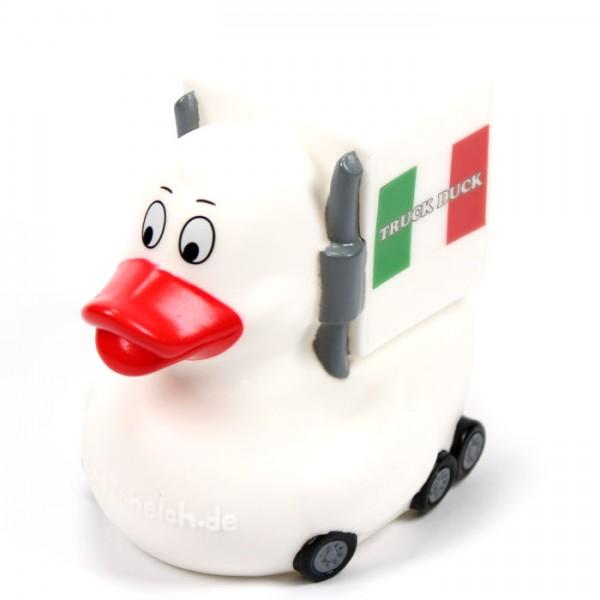 Original Truck Duck Italien Italy Figur Trucker LKW Auto Ente Länder Flagge Fahne