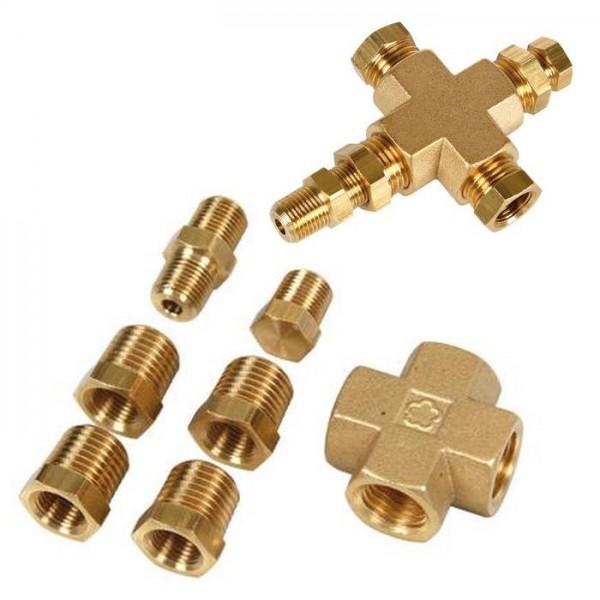 "Adapter Verteiler Öldruck Öltemperatur-Geber Sensor 1/8""-27 NPT 1/4""-18 NPT KFZ Instrument Anzeige"