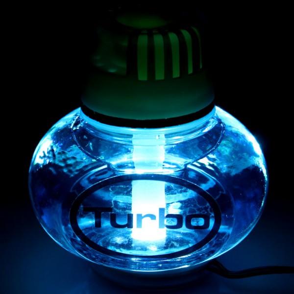 Turbo Lufterfrischer Ocean mit Poppy LED Beleuchtung 12V 24V LKW KFZ Auto Bus Wohnwagen