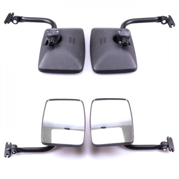 2x Rückspiegel Außenspiegel 250x160mm mit Spiegelarm Konvex Seitenspiegel Set Traktor Bagger LKW KFZ