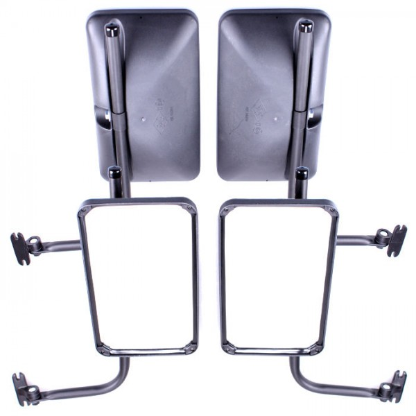 2x Rückspiegel Außenspiegel 305x170mm mit Spiegelarm Seitenspiegel Set Traktor Bagger LKW KFZ Bus