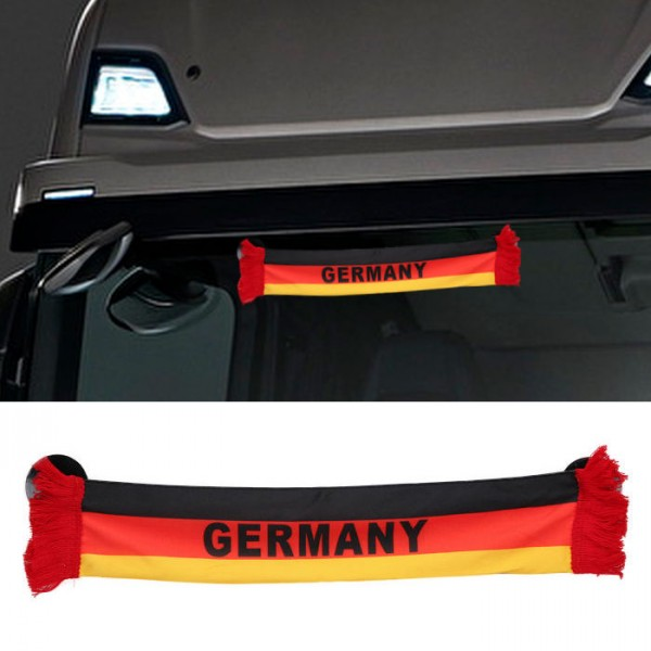 LKW Auto Germany Deutschland Mini Schal Wimpel Flagge Fahne 45x8cm Saugnapf Spiegel Truck