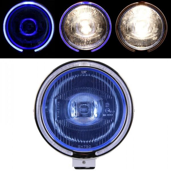 Angel Eyes Fernscheinwerfer Zusatzscheinwerfer blau 12-24V LKW KFZ Offroad Fernlicht