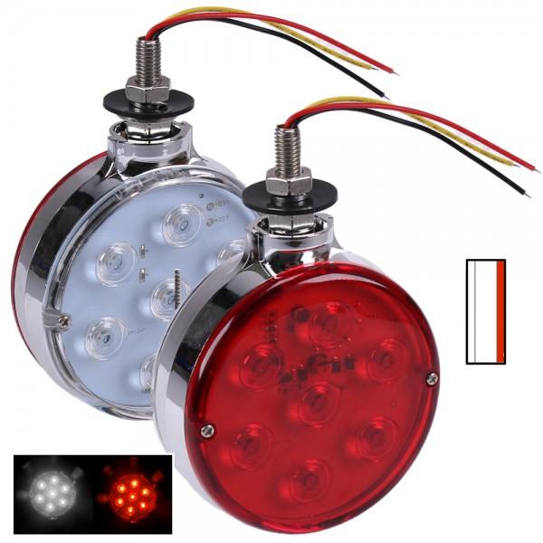2x LED Positionsleuchte Begrenzungsleuchten rot weiß 24V 12V für LKW Bus Auto Anhänger KFZ