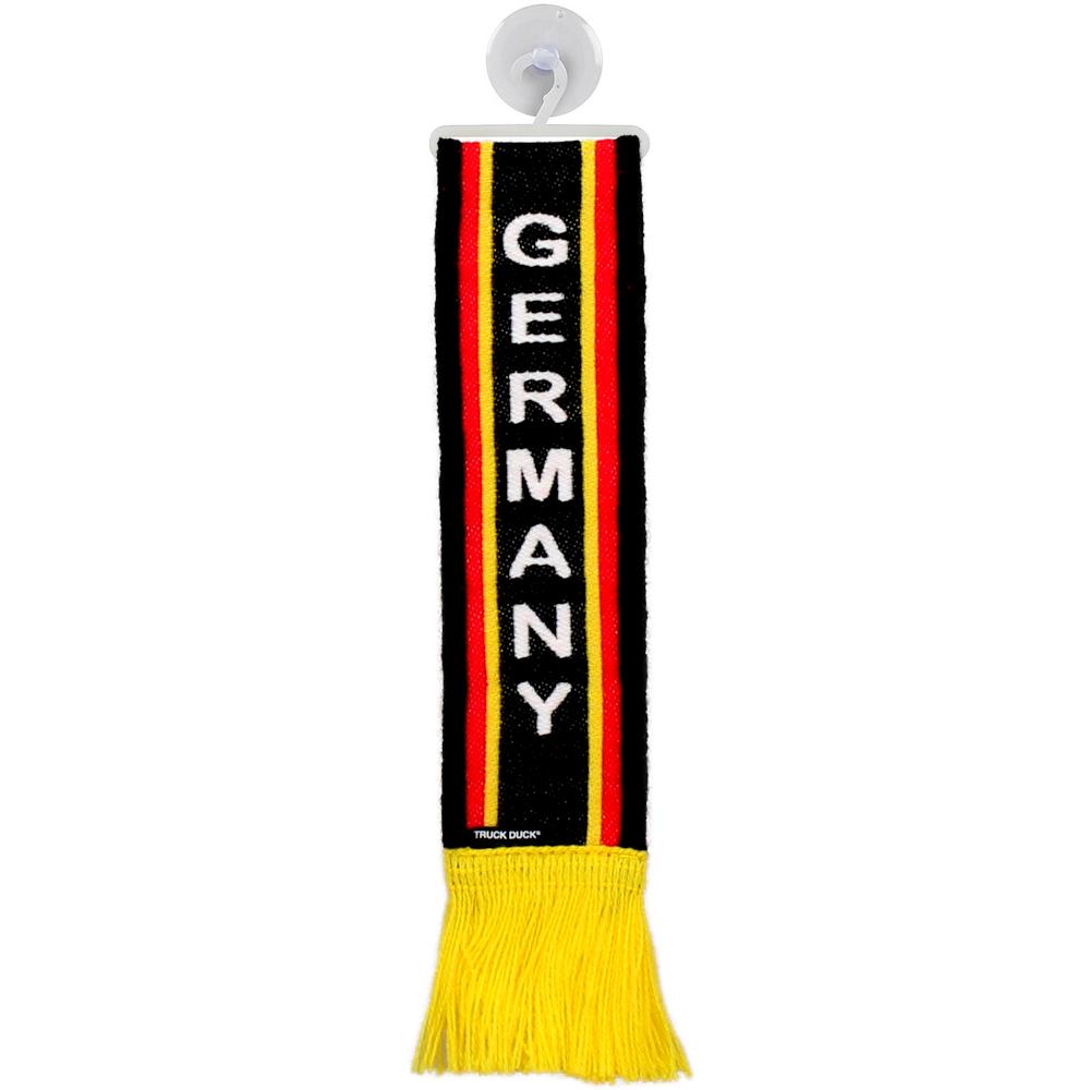 TRUCK DUCK/® LKW Auto Wimpel Deutschland Fernfahrer mit Saugnapf Trucker Mini Schal Flagge Fahne Banner Spiegel Deko