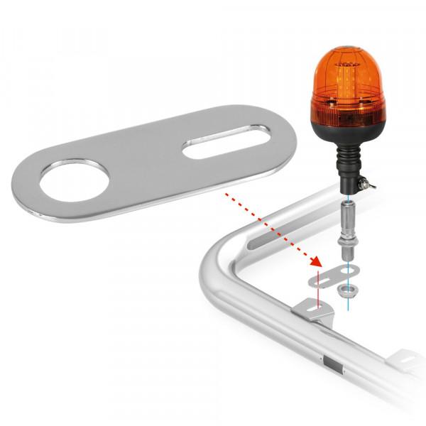 Edestahl Halterung für Warnleuchte Warnlicht Rundumleuchte Blitzer LED Signalleuchte LKW Lampenbügel