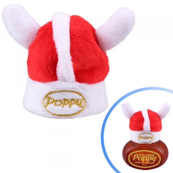 Wikinger Hut für Poppy Lufterfrischer mit LED Beleuchtung Mütze weiß Danmark LKW Auto KFZ