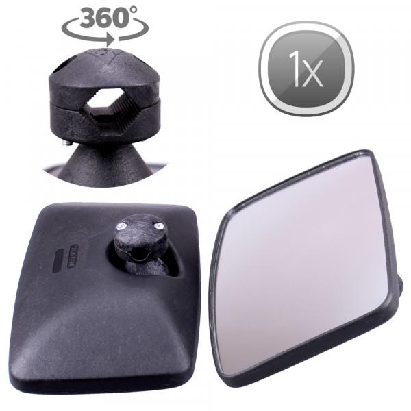 1x Universal Rückspiegel Konvex 250x160mm Außenspiegel Seitenspiegel Traktor Bagger LKW Bus