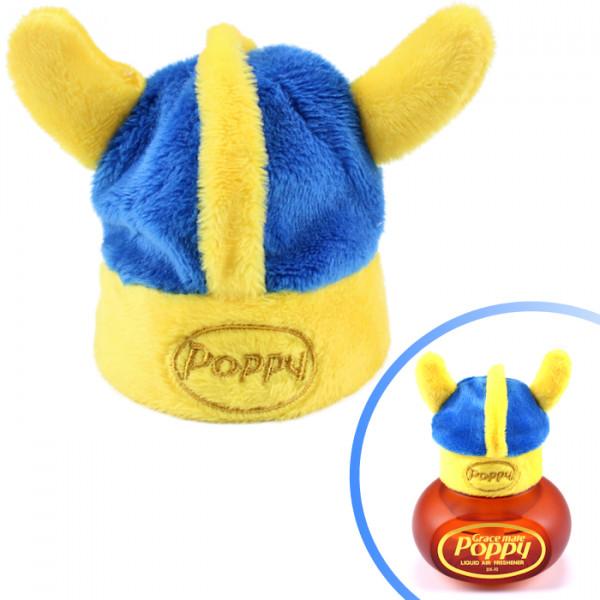 Wikinger Hut für Poppy Lufterfrischer mit LED Beleuchtung Mütze Blau Schweden LKW Auto KFZ