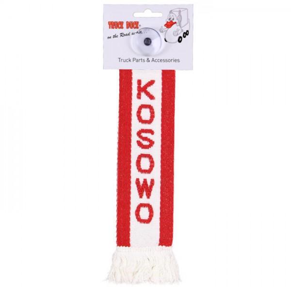 LKW Auto Minischal Kosowo Kosovo Mini Schal Wimpel Saugnapf Anhänger Spiegel Deko Flagge