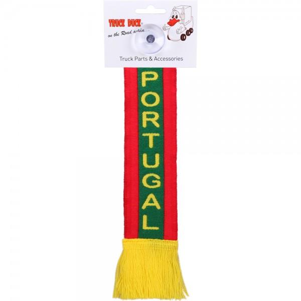 LKW Auto Minischal Portugal Mini Schal Wimpel Saugnapf Anhänger Spiegel Deko Flagge Fahne