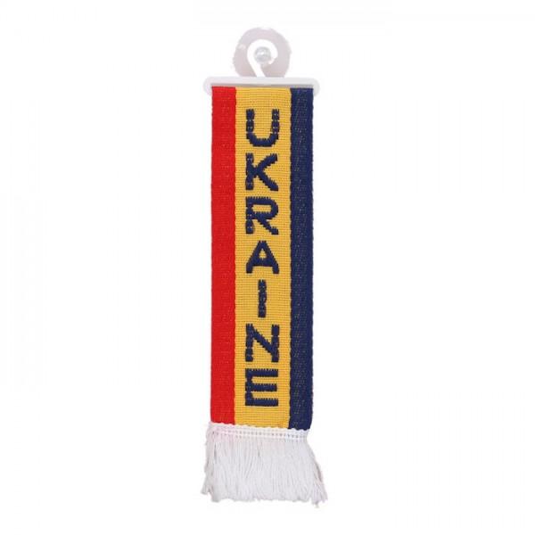 LKW Auto Minischal Ukraine Mini Schal Wimpel Saugnapf Anhänger Spiegel Deko Flagge