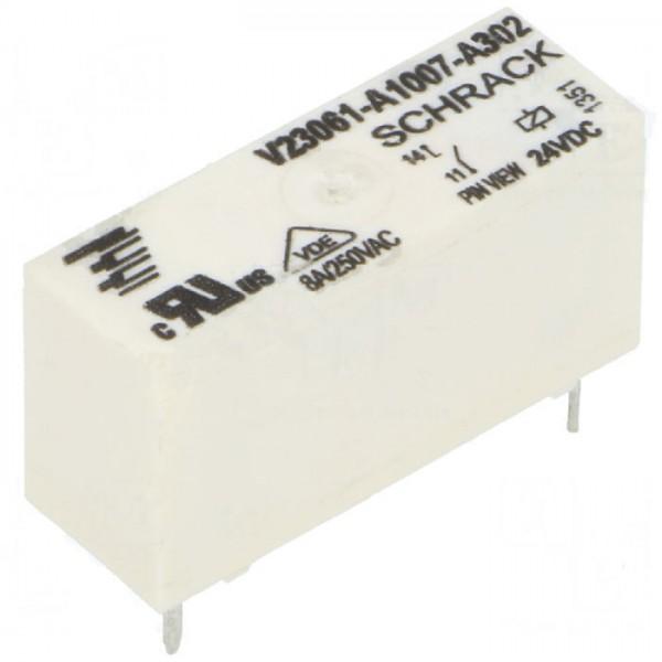 Schrack Relais MSR V23061-A1007-A302 24V DC max 250V/8A Miniatur Starkstrom U Spule