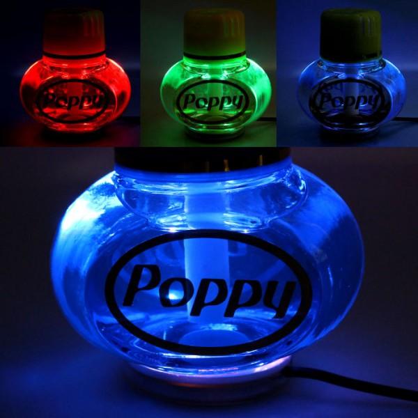 Poppy Lufterfrischer Tropical mit 7 LED Beleuchtung 12V 24V LKW Auto KFZ Wohnwagen
