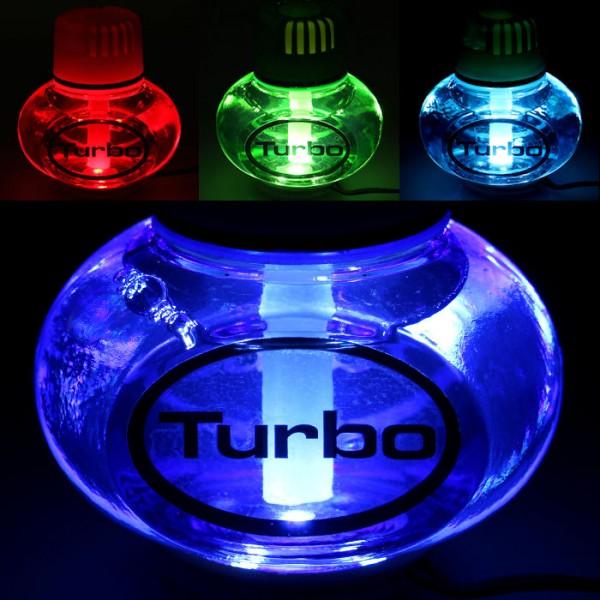 Turbo Lufterfrischer Tropical mit 7 LED Poppy Beleuchtung 12V 24V LKW Auto KFZ Wohnwagen
