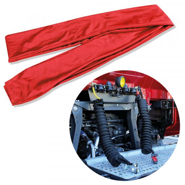 Überzug Luftschlauch Schutz Luftwendel Druckluft Schlauch Spiralschlauch Hülle Kupplung Rot für LKW